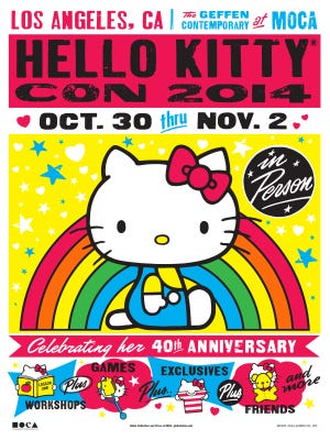 The first Hello Kitty Con takes place Oct. 30-Nov. 2.