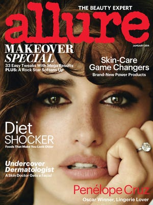 Penelope Cruz graces the January cover of 'Allure.'