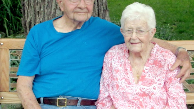 Mike and Mary Peters got an anniversary surprise in April, when the neighorhood gathered for drive-by well-wishing.