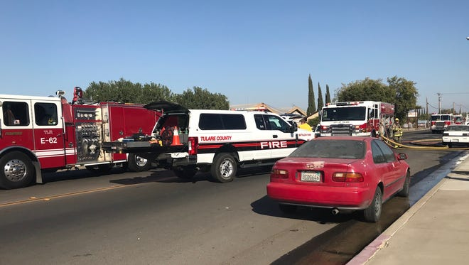 Tulare Fire Department and Tulare County Fire Department responded to an attack fire in Tulare.