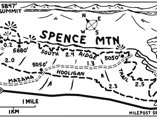 map143 Spence Mountain Trail