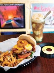 The Stevie Burger (named after Stevie Nicks) and a root beer float at Rony's Rockin' Grill in Bergenfield, NJ. For the Main Dish section of (201) Magazine, June 2015 issue. ANNE-MARIE CARUSO/STAFF PHOTOGRAPHER