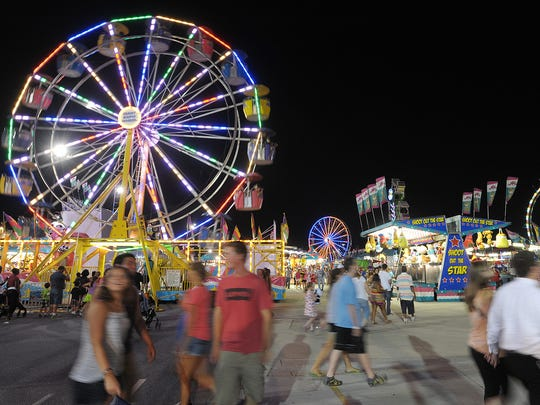 The Delaware State Fair's entertainment tent has been moved north this year, away from the carnival entrance.