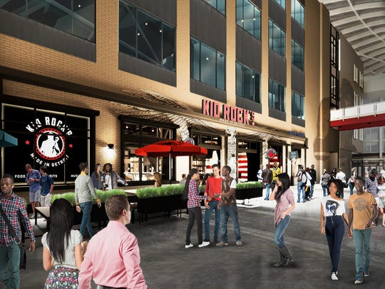 A rendering of Kid Rock's Made in Detroit restaurant.