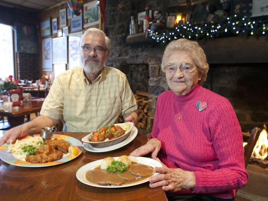 Theresa Schneider and her son, John, are the owners of Schneider's German-American Restaurant in Avon. The restaurant opened in 1970.
