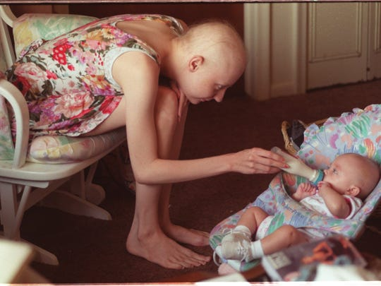 During chemotherapy treatments Pullins was too weak to care for Alana fulltime. She usually saw her for a few hours a day while her grandmother cared for the baby.