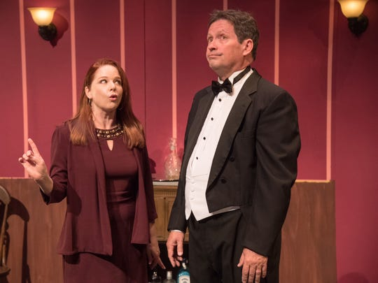 "Kirsten Sham plays Yvonne and Richard Bugg plays Albert in the Neil Simon Festival's 2017 production of ""The Dinner Party."""