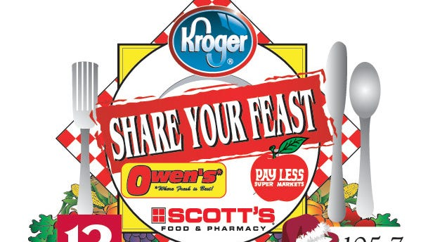 Share Your Feast food drive at Kroger - now through Dec. 24, 2014