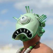 Images from Burning Man in the Black Rock Desert near Gerlach, Nev., on Friday, Aug. 31, 2012.