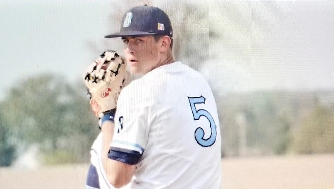 Brody Rice pitches for Blanchester.