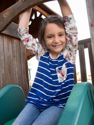 Kate Green, 7, attends school in Mosquero, the least