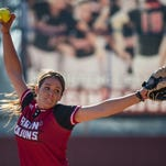 Alex Stewart tossed a complete game shutout with a career-high 11 strikeouts to guide the No. 9 Louisiana Ragin' Cajuns softball team to a 4-0 win over Texas State on Sunday in the series finale at Bobcat Stadium.