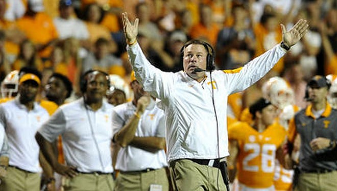 Tennessee coach Butch Jones is winless against Florida in two tries.