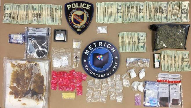 Ashland police seized drugs with a $36,000 total street value.