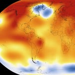 NASA illustration shows  2015 was the warmest year since modern record-keeping.