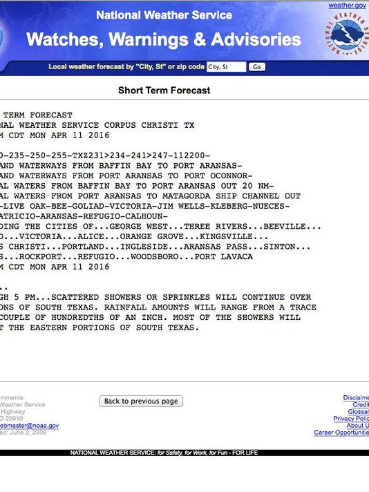 Screaming Weather Service