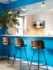 The wall color is based on the exact shade of blue