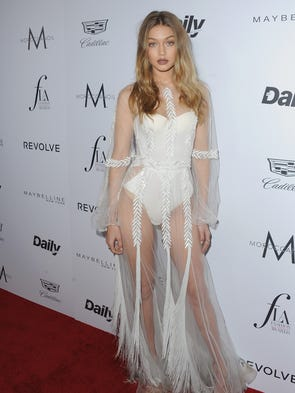 Gigi Hadid proved the see-through trend is far from