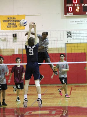 Marc Mathieu had 10 kills for Bloomfield against Pope John in the state sectional quarterfinals.
