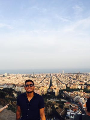 Sam Barreto at Montaña Del Carmelo, which overlooks the city of Barcelona.