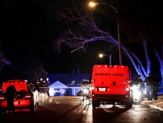 January 30, 2018 - Memphis police investigate a scene