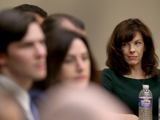 Laura Rideout during opening statements in the Craig