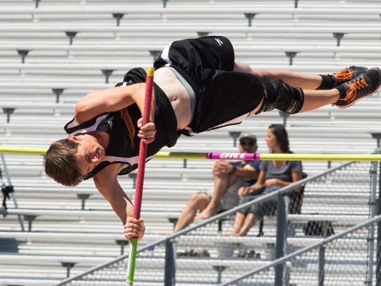 Centennial's Isaiah Gelinas is the No. 1 seed for pole vault at the Class 5A state championships, which begin today in Albuquerque.