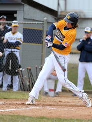 Portage Central freshman Luke Leto gets ahead of the