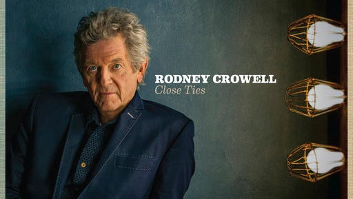 """This cover image released by New West Records shows """"Close Ties,"""" by Rodney Crowell. Crowell takes his work seriously, not himself. His new disc, """"Close Ties"""" out Friday features the voice of ex-wife Rosanne Cash, along with Sheryl Crow and John Paul White."""