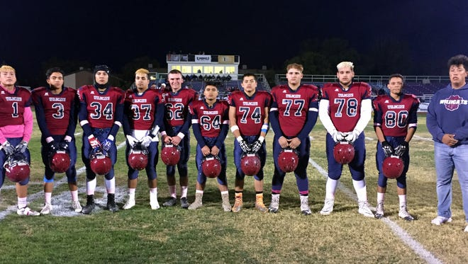 Eleven Deming High seniors hope to continue their Wildcat football careers through the Class 5A State Playoffs this weekend. The Cats will play a first-round game at 6 p.m. on Friday against the Miyamura High School Patriots in Gallup, NM