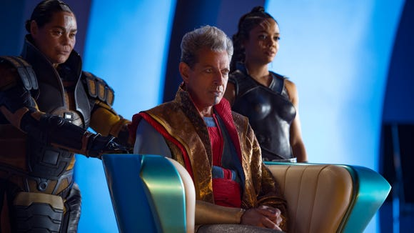 Grandmaster (Jeff Goldblum, center) ruled Sakaar in