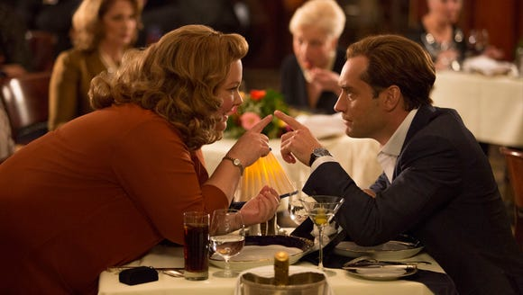"Melissa McCarthy and Jude Law in ""Spy."""