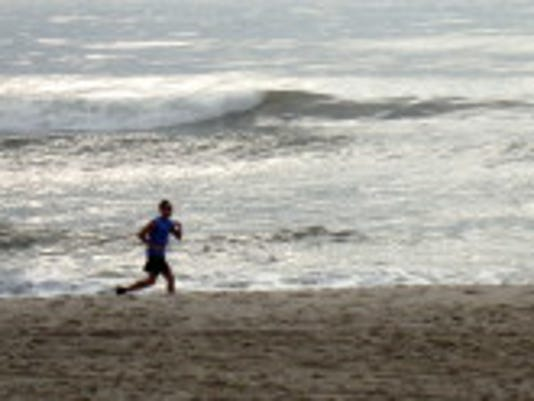 Jogging on Long Beach Island in late September.