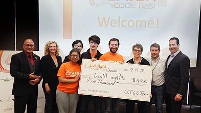 A team of Comeaux High students won the recent Cajun Code Fest challenge.