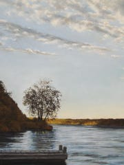 """Highland Landing Sunset,"" a pastel by Marlene Wiedenbaum,    is part of the ""LongReach Square"" exhibit."