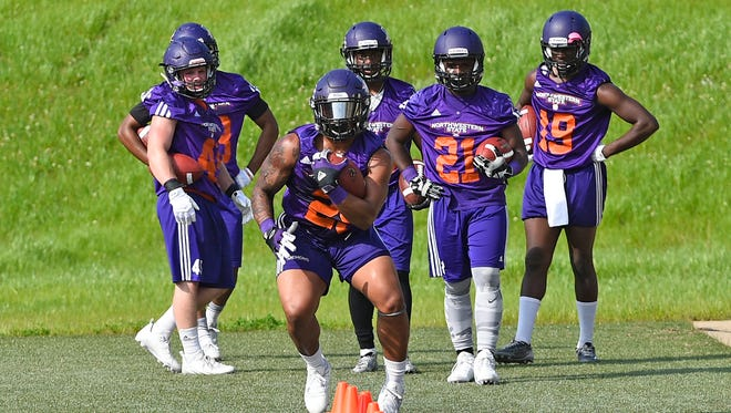 The Northwestern State Demons finished the first half of their spring drills.