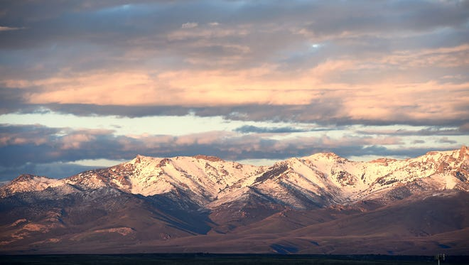 The Ruby Mountains, near Elko, are shown in May 2017.