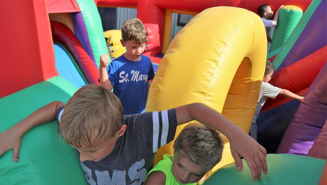 St. Mary's School of Jackson held a Back to School Bash on Sunday, August 12, 2018 to kick-off the new school year featuring inflatables, bull ride, football toss, basketball shootout, baseball toss , karaoke and StacyÕs Ice Cream Cruiser.