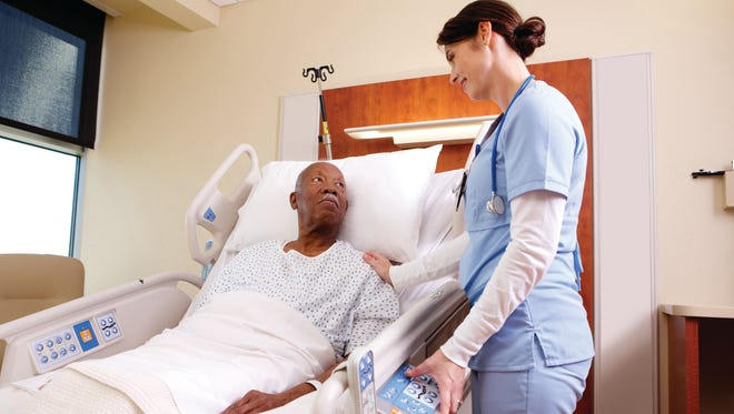 Hill-Rom manufactures hospital beds and other medical equipment.