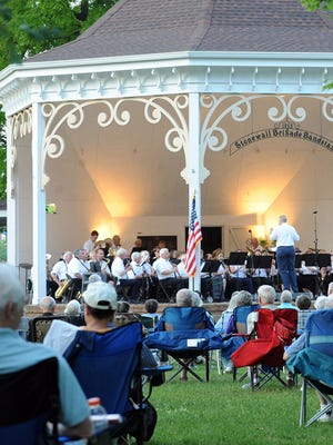 The Stonewall Brigade Band performs in concert at the bandstand in Gypsy Hill Park in this 2011 file photo.