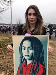 Wisconsin Women's March co-chairwoman Sarah Pearson at the first Women's March in Washington, D.C. on Jan. 21, 2017.