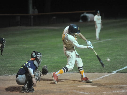 Vince Donato was perfect in the batter's box in the second game.