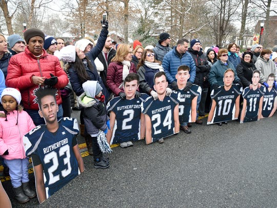 Rutherford residents celebrate the football state championship