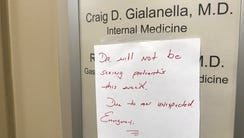 The office of Dr. Craig D. Gialanella is closed on