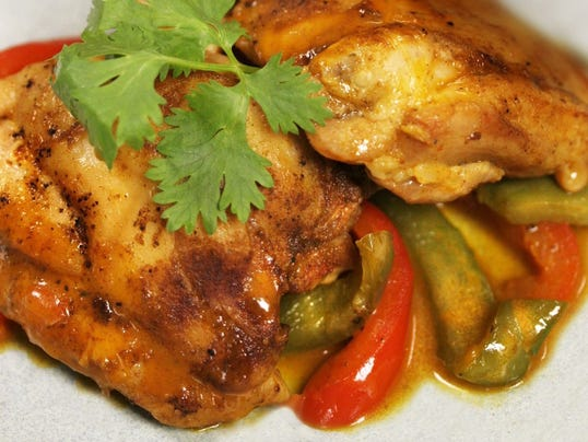 Smoky Paprika Chicken Thighs with Peppers (Photo: Elaine Lok Detroit ...