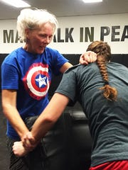 Christine Brinkman, 64, has taken Krav Maga classes