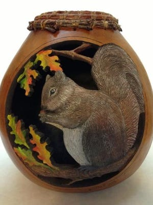 Artwork by Gloria Crane, who will be one of the instructors at Baskets and Gourds – Containers of Our Culture VI held at the Elk's Lodge, April 23 and 24.