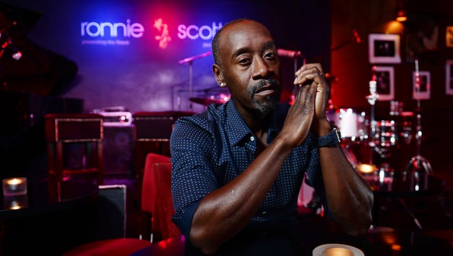 Don Cheadle, who directs and stars as Miles Davis in the forthcoming film Miles Ahead at Ronnie Scott's Jazz Club on April 5, 2016 in London, England.