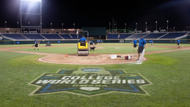 The CWS Grounds Crew works the field.