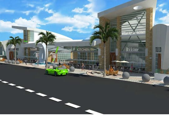 An architect's rendering of The Scene, a redevelopment